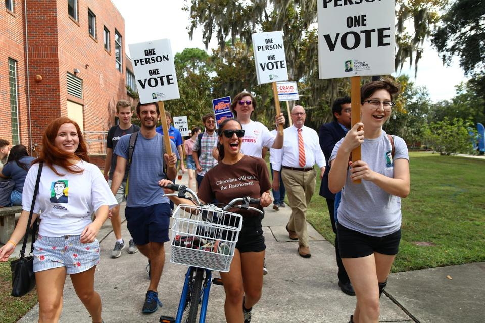 Equal access matters: Florida students turn out at on-campus early voting locations in 2018 on.forbes.com/6010EhfVj #paid @civicnation