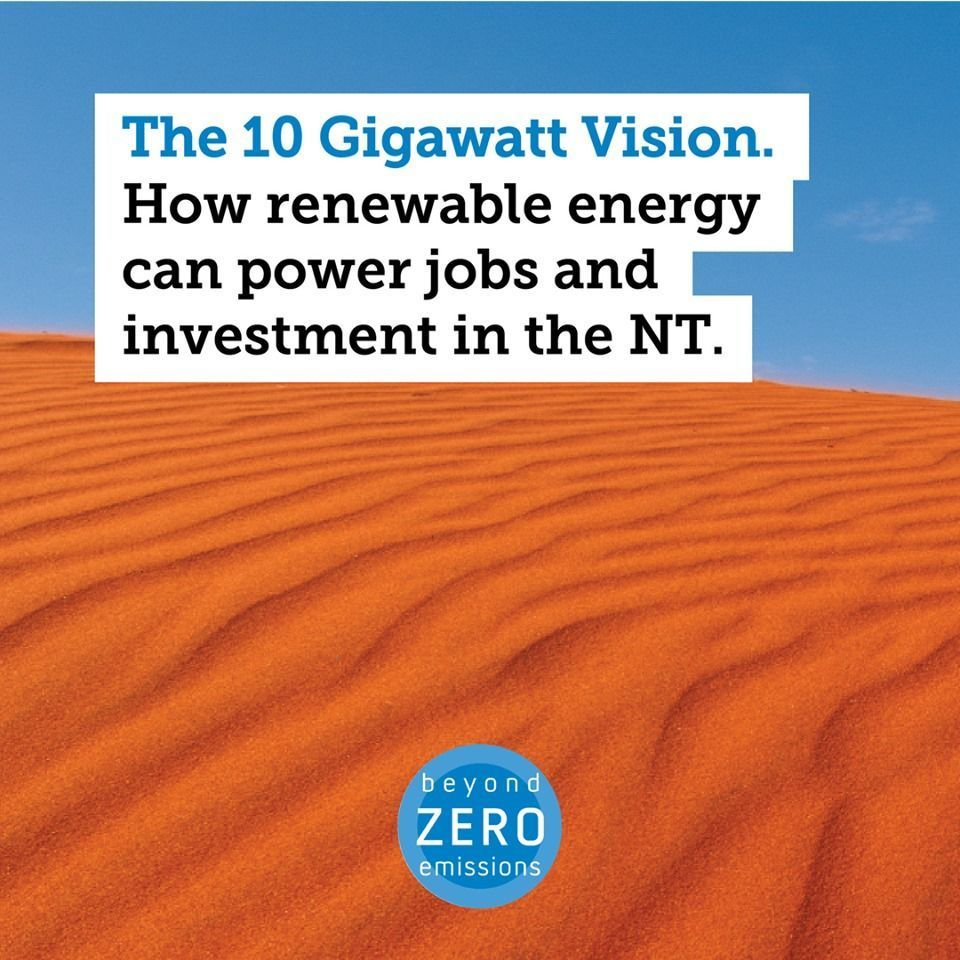 By following the 10 Gigawatt Visions guide for #renewablehydrogen the #NT could become a #renewables export superpower by 2030, with an industry worth $4.4 billion and 960 direct new jobs! See @BZE_bzes report buff.ly/2Noc8Mg #renewables