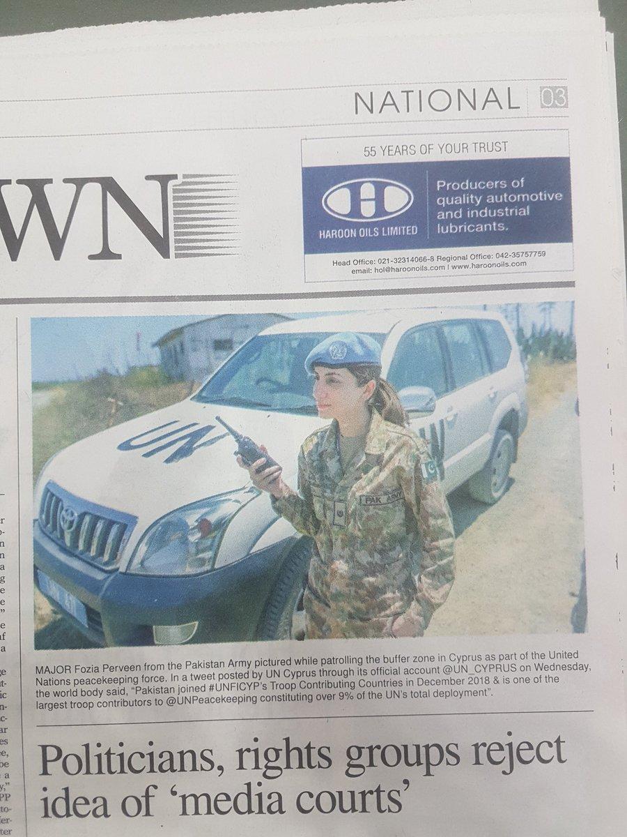 You go girl! Major Fozia Perveen. ❤#Pakistan #UNFICYP @UN_CYPRUS