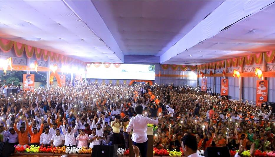 This yatra was to seek their love, blessings and guidance to build a new Maharashtra!