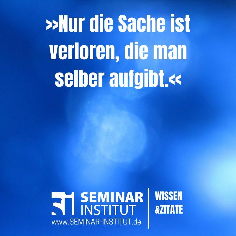 Seminar Institut Twitterissä Besiegt Zu Werden Ist Ein