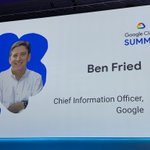 Image for the Tweet beginning: Second keynote at #GoogleCloudSummit by