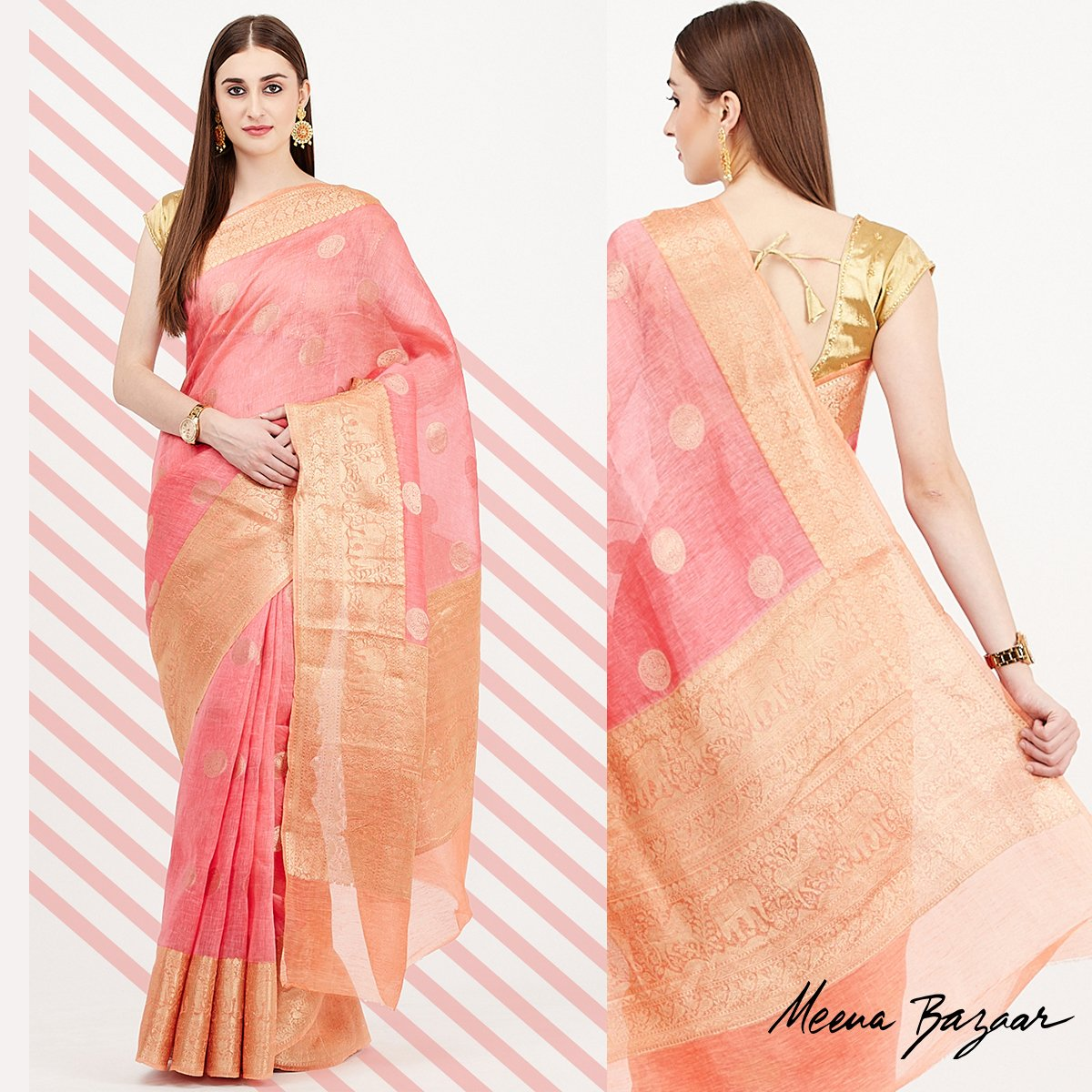 Outshine everyone with your elegant flair as you adorn masterpieces crafted by Meena Bazaar Worldwide Delivery Available | Free Shipping in India Shop: mbz.in/collections/sa… #MeenaBazaar #CursiveWalaMB #Saree #SareeTwitter #Kurti #Lehenga #jewelry #MBZ #ethnicindianwear