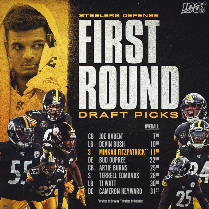 With the addition of @minkfitz_21, the @steelers defense now features EIGHT first-rounders! #HereWeGo