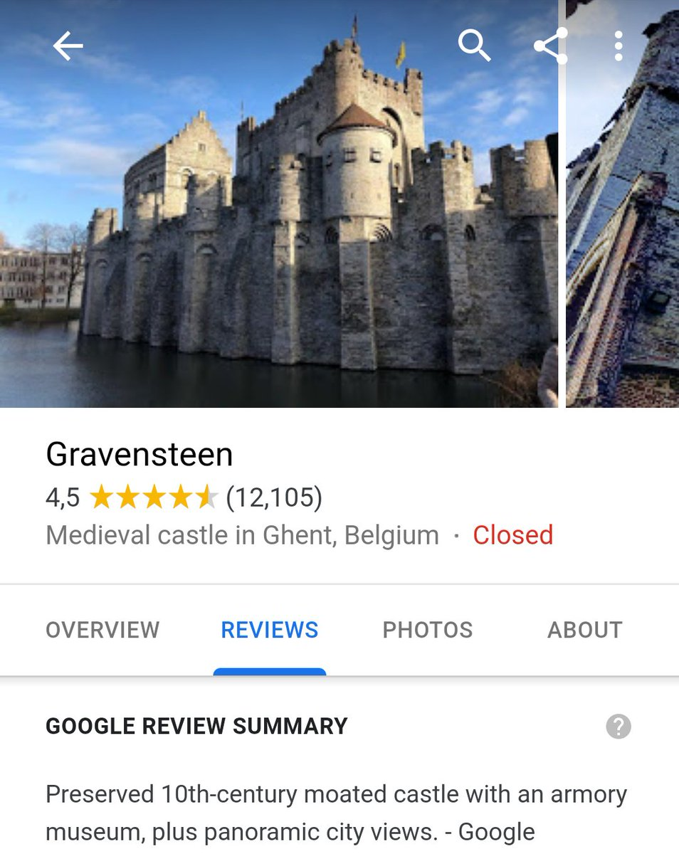Google review of a 10th Century Castle