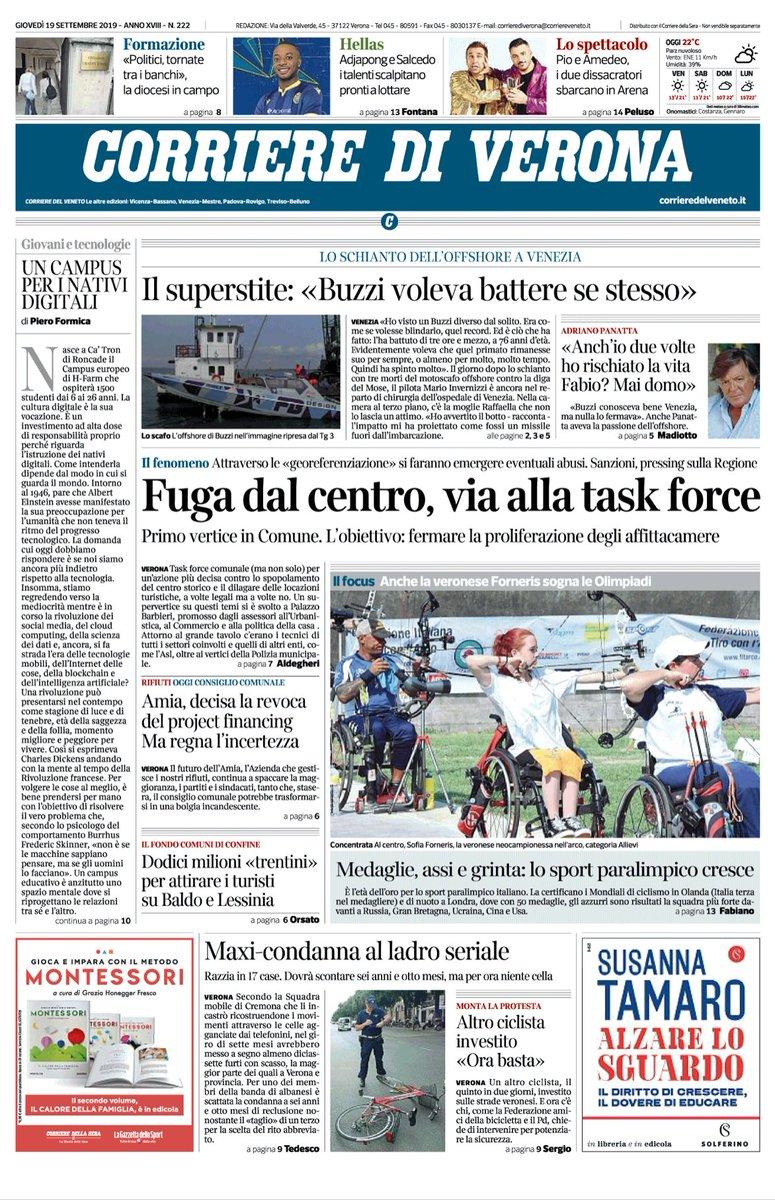#verona #venezia Buongiorno con la prima pagina de...