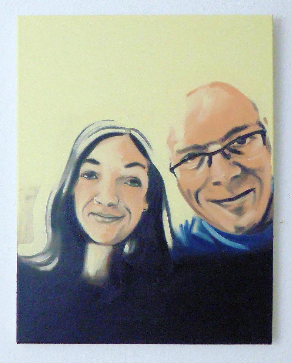"Next painted selfie with celeb: ""You and me, Lisa"" 50x40 cm, oil/canv, https://bremer-galerie.de #artwork #eckhardbremer #dortmund #conceptart #selfie #Promiselfie #socialmediapainting #socialmedia #art #kunst #malerei #dortmund #artontwitter #painting #oilpaintingpic.twitter.com/IKZUplMZnG"