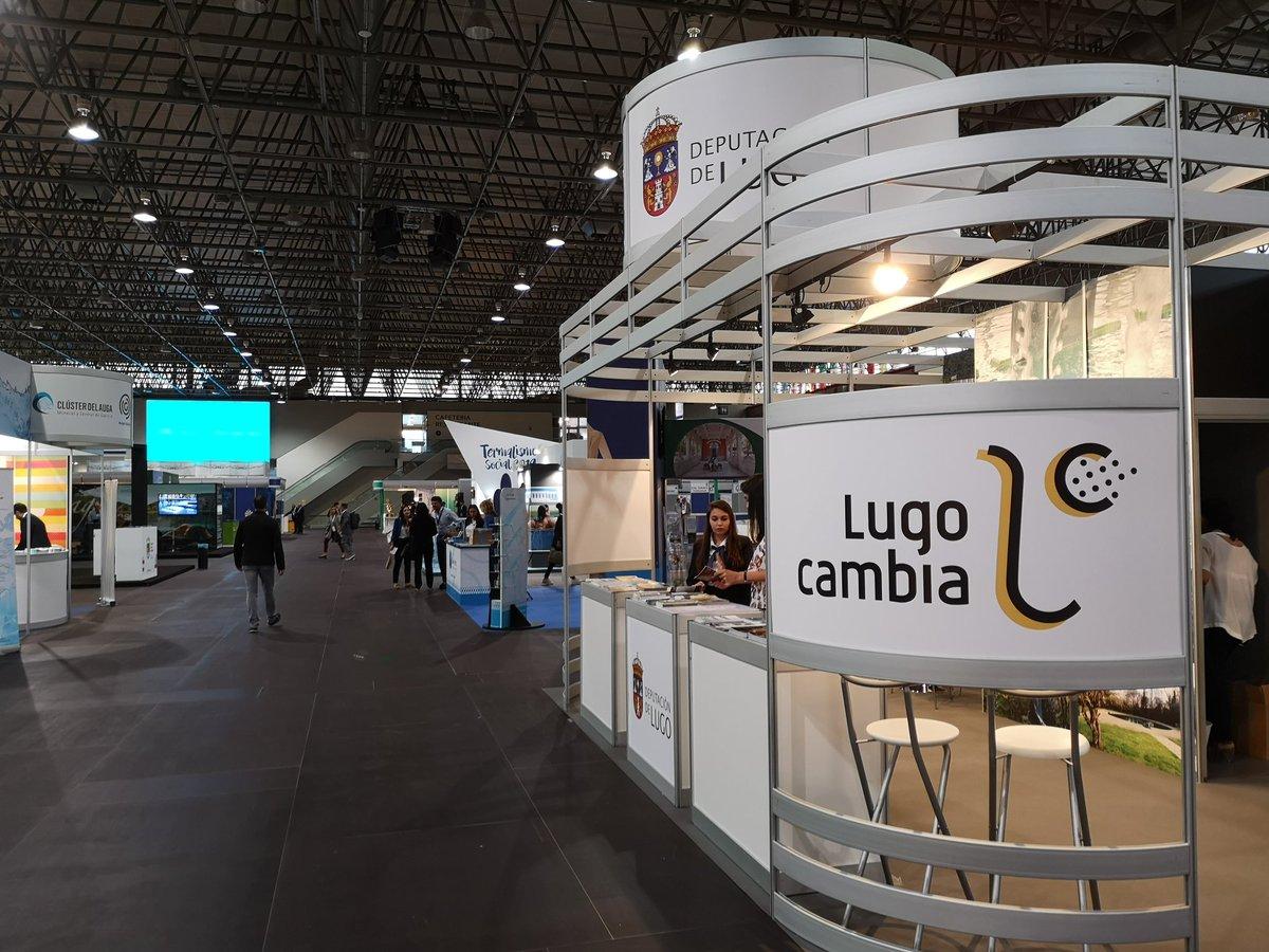 Ya estamos en @Termatalia. Te esperamos en el expositor de la @DeputacionLugo durante toda la jornada y mañana viernes. #LugoCambia #turismo #turismotermal #Lugo