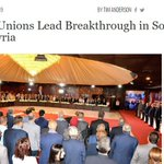 Image for the Tweet beginning: Trade Unions Lead Breakthrough in