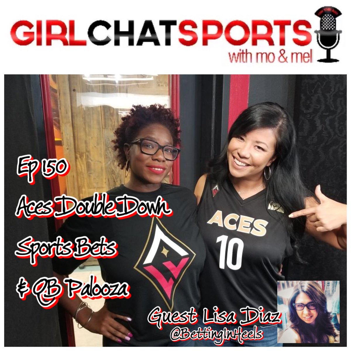 NEW EPISODE!!  Make sure to check out tonights episode on #YouTube w/ our guest @BettingInHeels we talk @LVAces their exciting games in the #WNBAPlayoffs & updates on #NFL week 2, QB woes over the league & #Sportsbetting  https://youtu.be/I8pXWcPmrlU   #Girlchatsports #BettingInHeels
