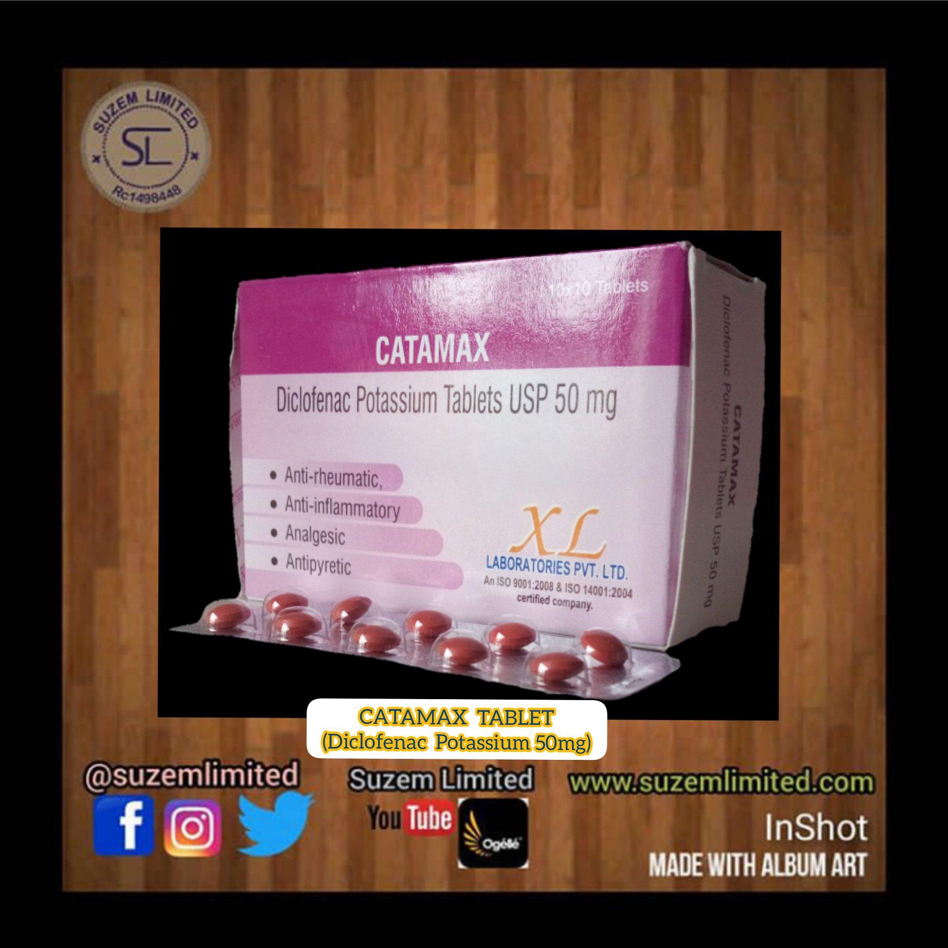 Suzem Limited On Twitter Catamax Diclofenac Potassium Usp 50mg Tablets 10 10 Https T Co 17ojadpami Suzem Wemakeitknown