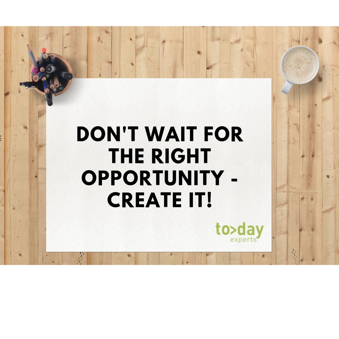 man sollte nicht immer auf die perfekte Gelegenheit warten, sondern sie einfach selbst erschaffen - DU bist der Schöpfer deiner Möglichkeiten!  Das Today Team wünscht einen gute Woche #todayexperts #celebratework #welovewhatwedopic.twitter.com/GWbcXYuaDZ