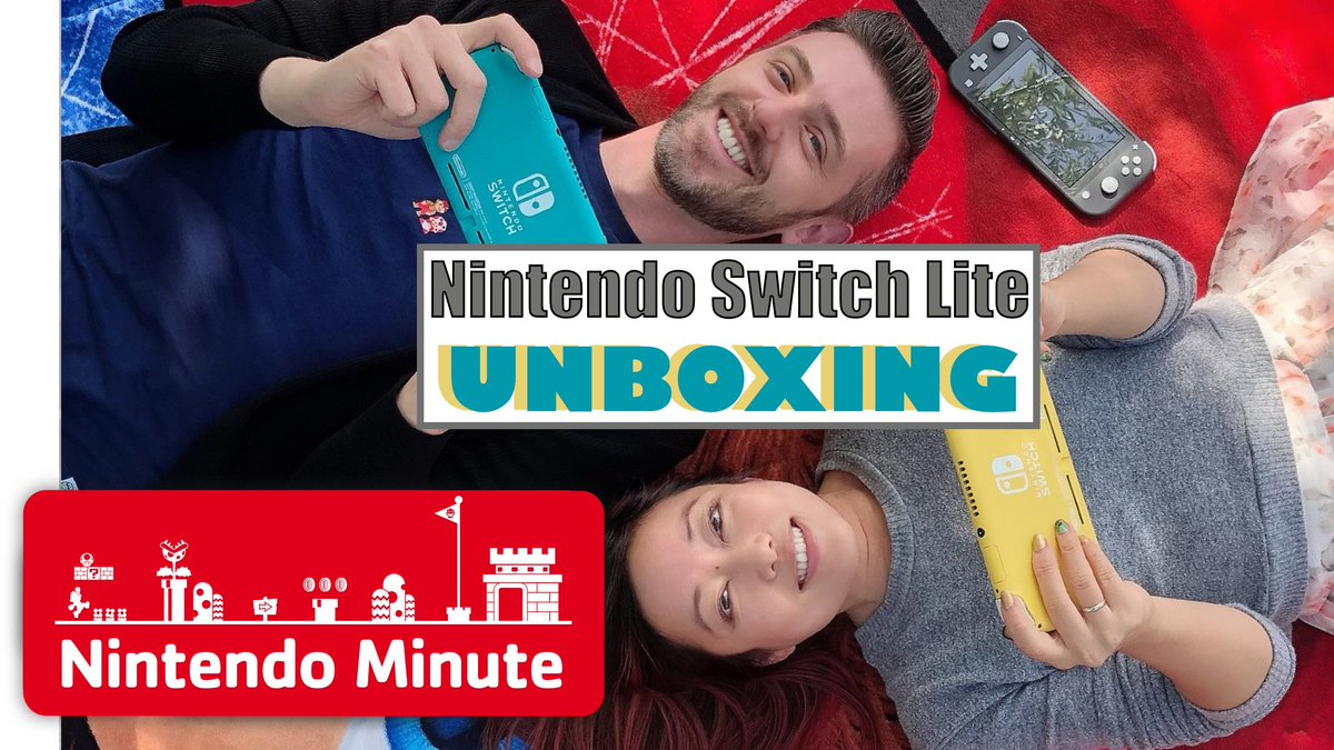 Check out an unboxing of #NintendoSwitchLite on this week's episode of Nintendo Minute with Kit & Krysta! Which color is your favorite?