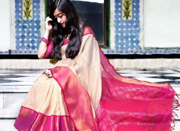 Wedding Cream color Pure #Handloom #Kanjeevaram #Silk #Cotton Checks #saree Online Shop now bit.ly/2RPiZjY Worldwide free shipping on orders above $100 USD #handloomswag #IWearHandloom #Unnatisilks #sareeswag #onlineshopping #sareestories #handlooms #SareeTwitter