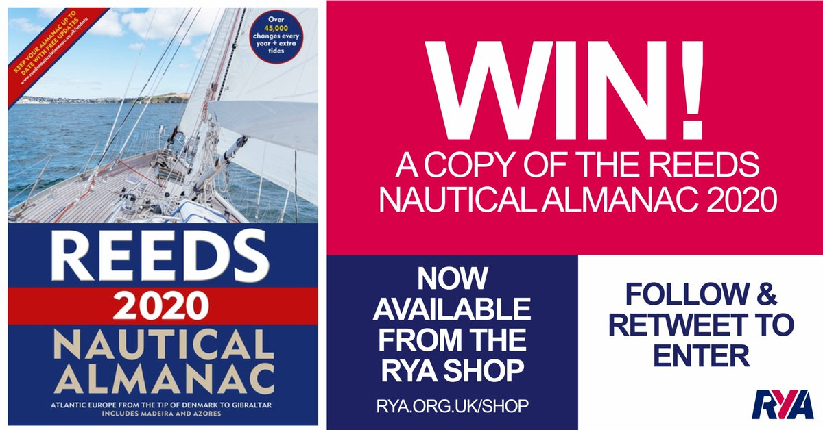 LAST CHANCE! Entries for the #RYAAlamanacCompetition close at 23:59 tonight.  Follow @RYA and retweet using the hashtag #RYAAlmanacCompetition to enter  For full details and T&Cs visit - https://t.co/hC4ZDvIo63. Entries close at 23:59 on Thursday 19 September #RYAWin