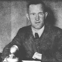 19 September 1945. Nazi propaganda broadcaster William Joyce ['Lord Haw-Haw'] was sentenced to death for treason.