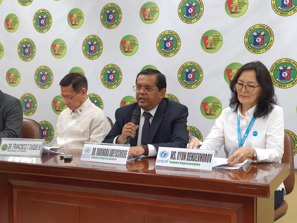 "World Health Organization Philippines on Twitter: ""WHO Philippines  Representative Dr Rabindra Abeyasinghe: We stand with the DOH and the  Philippine government to respond to this #polio outbreak. We are deeply  concerned of"