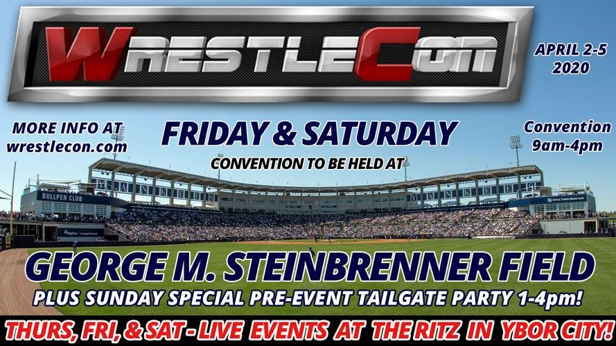 Glad to finally reveal our WrestleCon plans for Tampa. Hotel information and room block should be anyday, but were not using it for either the Convention or the Live shows. Steinbrenner Field is literally connected to Raymond James Stadium by a foot bridge.