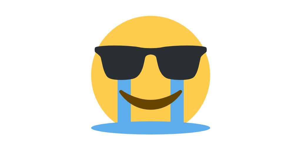 Emoji Mashup Bot on Twitter  sunglasses   in-tears