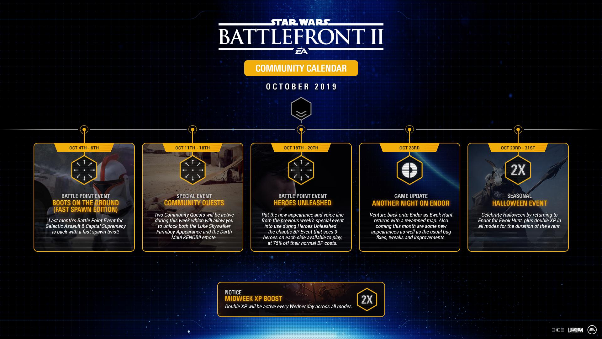 Ea Star Wars On Twitter Check Out The October Community Calendar For Starwarsbattlefrontii
