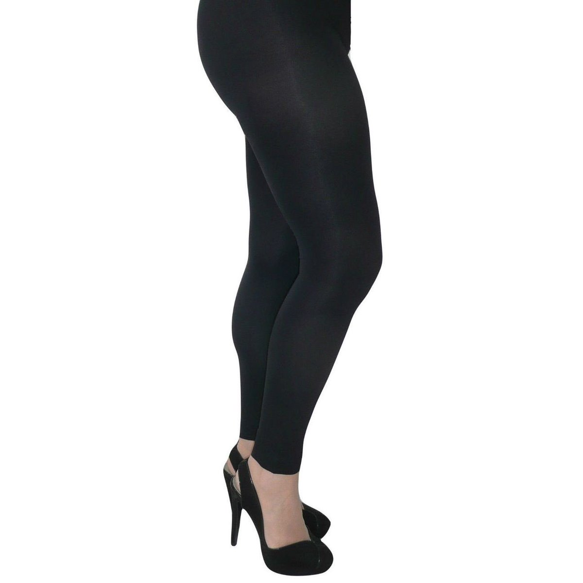Plus Size Ladies 1 Pair Natural Gloss Tight with Lycra Sizes XL /& XXL