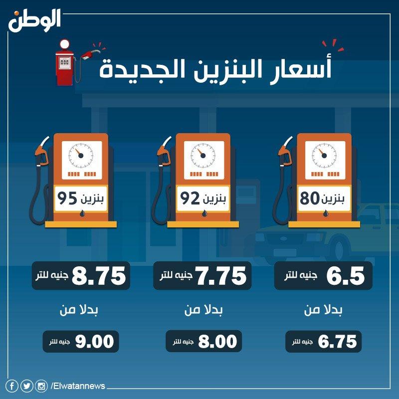 صحيفة الوطن المصرية أسعار البنزين الجديدة