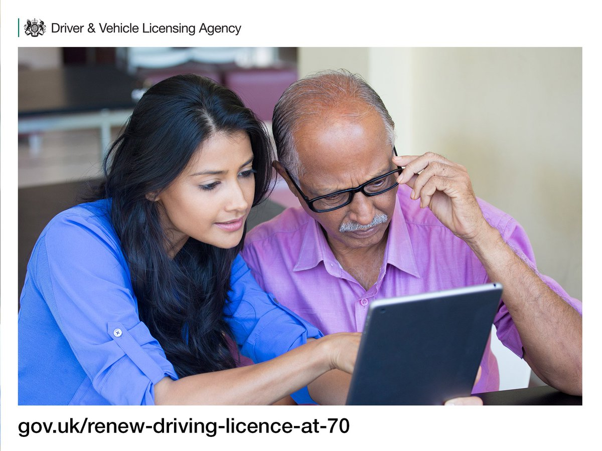 At for licence www free gov 70 driving renew uk How to