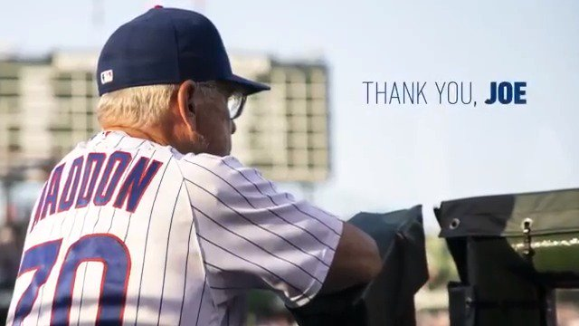 471-339 19 postseason wins 1 World Series  Your fingerprints are all over the Cubs organization and we are grateful for the winning culture you brought to Chicago.  Thank you for changing this franchise forever.
