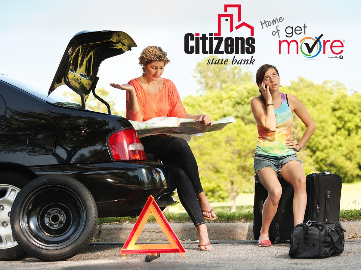 Get More™ checking at Citizens State Bank won't leave you feeling flat! With Roadside Assistance on our app, you'll be back on the road in no time. Contact us to learn about this and all of the other perks that come with #GetMoreChecking! https://t.co/VMwrLDqzUM