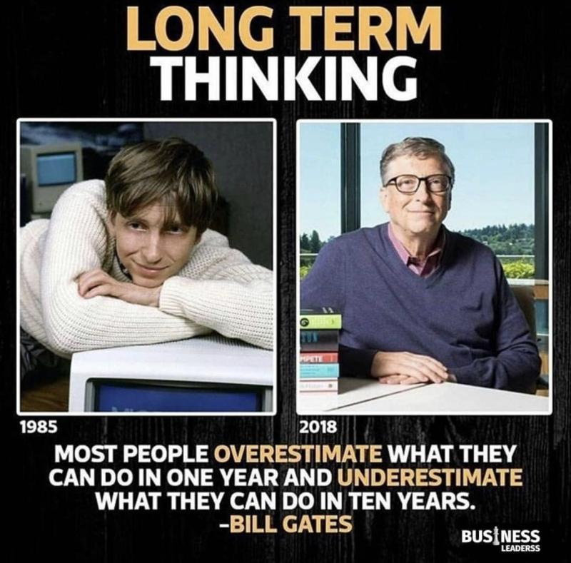 👍Long term thinking!