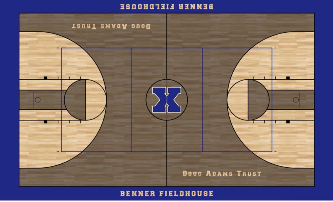 Our Benner Fieldhouse project is nearing completion this facility has all the history and now has a new exterior and soon to be new gym floor! It will be a great community venue for the city of Xenia. Check out the throwback floor design! 🔥🔥🔥 @XeniaSchools @XeniaSupt
