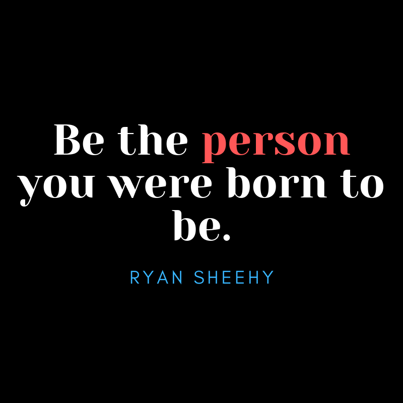 Be the person you were born to be. #BeTheOne #principalsinaction #Edchat