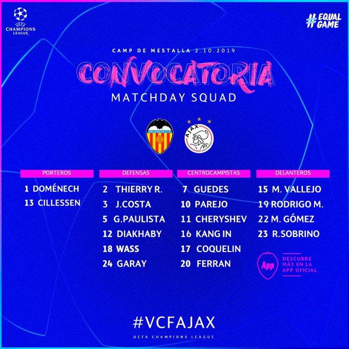 EF0GK4bW4AIxdRA?format=jpg&name=small Celades convoca a 18 jugadores para recibir al Ajax - Comunio-Biwenger