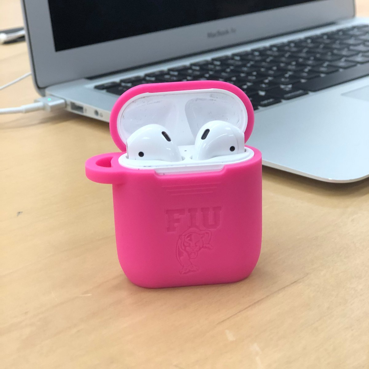 This October, go pink with @fiupanthertech!  $5 of all sales of pink AirPods cases & Apple Watch bands will benefit @FLBreastCancer, a nonprofit, grassroots organization dedicated to ending breast cancer through advocacy, education, and research.
