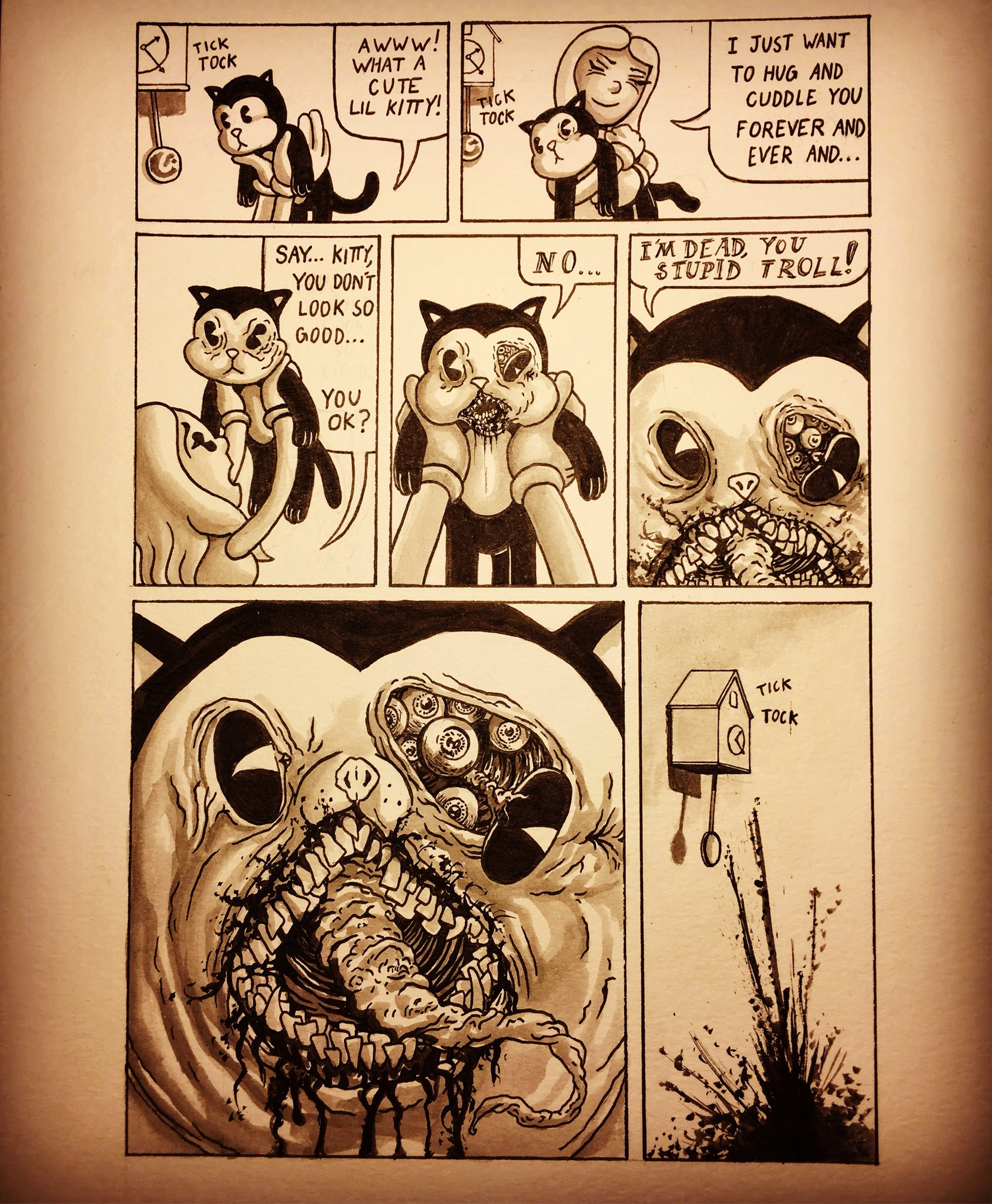 Jake Tacito On Twitter Inktober Day 1 Did A Comic Since I Haven