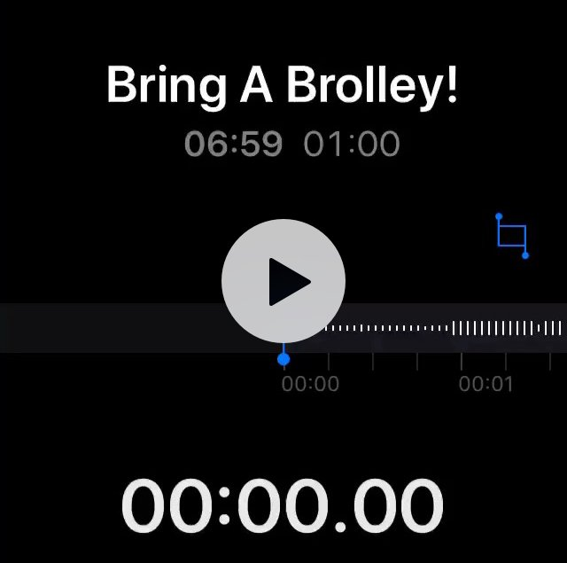 60 Seconds News - Bring A Brolley! Oh it was so amusing this morning at 06:59 when Zi recorded this. Later in the day I was not that chuffed spending hours in the car - driving on the rain... https://t.co/pDInNvvHvs https://t.co/noOxhxE3Ln