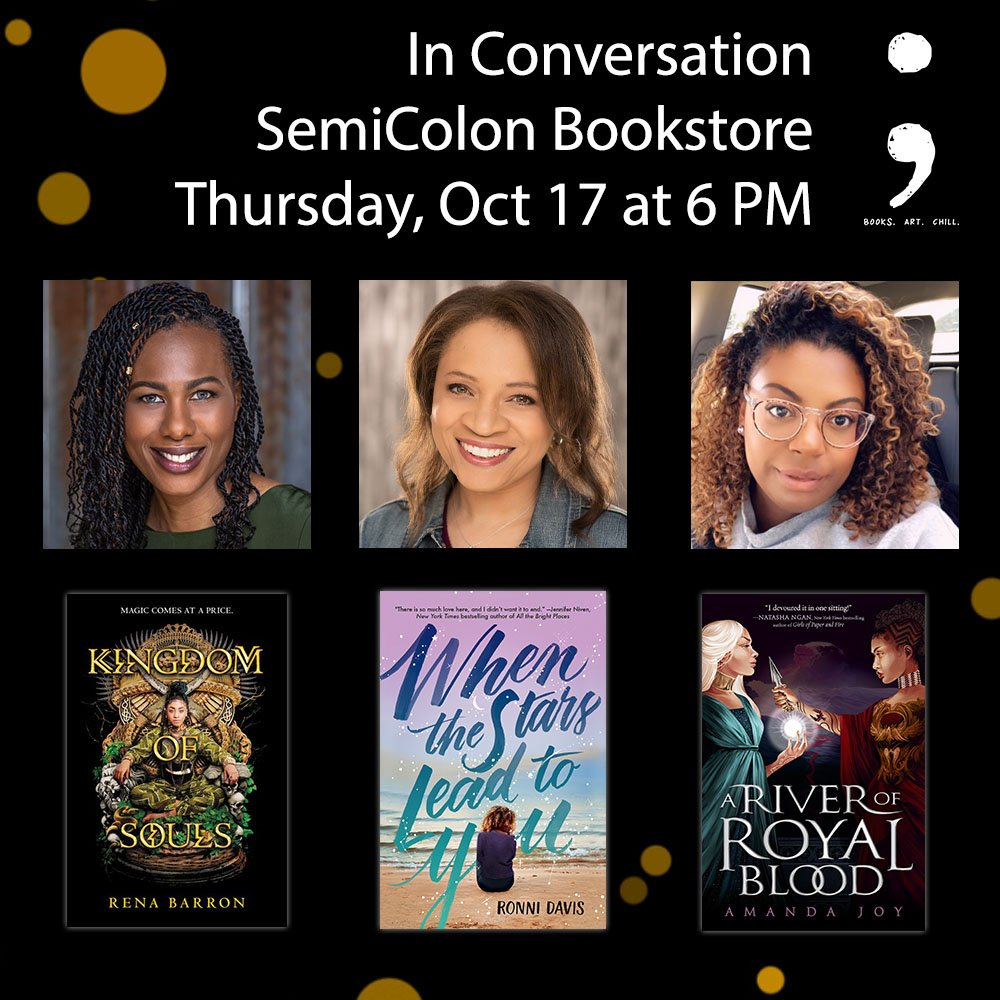 IT'S HAPPENING! October 17! @renathedreamer, @amandajoywrites and I will be @semicolonchi on 10/17 bringing the BLACK GIRL MAGIC! You should come too! RSVP here: semicolonchi.com/events-1/in-co…
