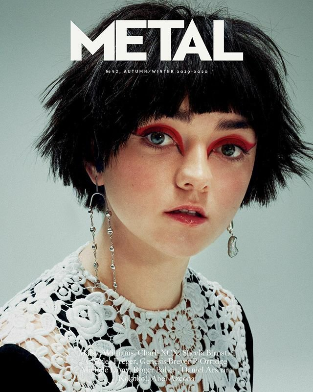 #MaisieWilliams para Metal Magazine #aryastark #gameofthrones #juegodetronos #noone