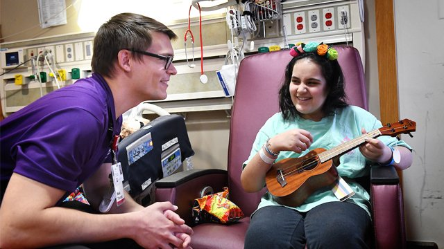 Riley kid has a song in her heart and a ukulele in her hands - Music therapy helped this 12-year-old heal from a traumatic brain injury suffered in a terrifying car accident. iuh.me/2oi8Jn1