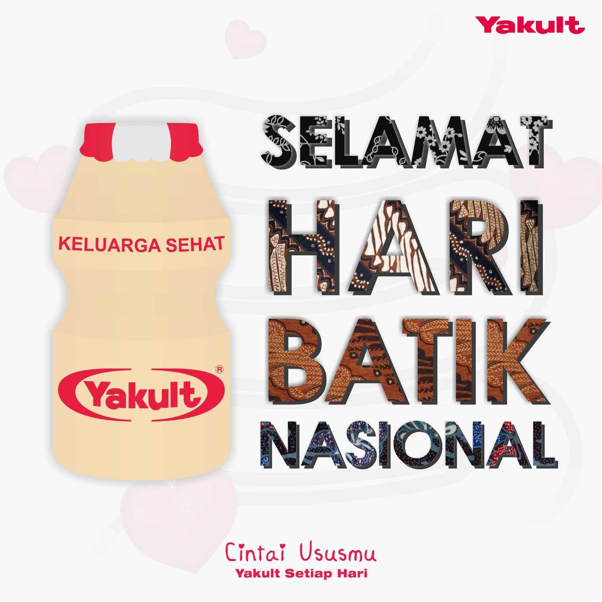 Pt Yakult Indonesia On Twitter Selamat Hari Batik Nasional