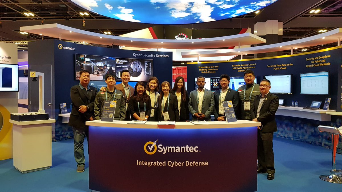 #GovWare2019 Day 2: Come speak to our cybersecurity experts at booth H02 and learn more about Integrated Cyber Defense.   #SICW2019 #SymantecAtGovWare2019 https://t.co/jiJVTuZHwQ