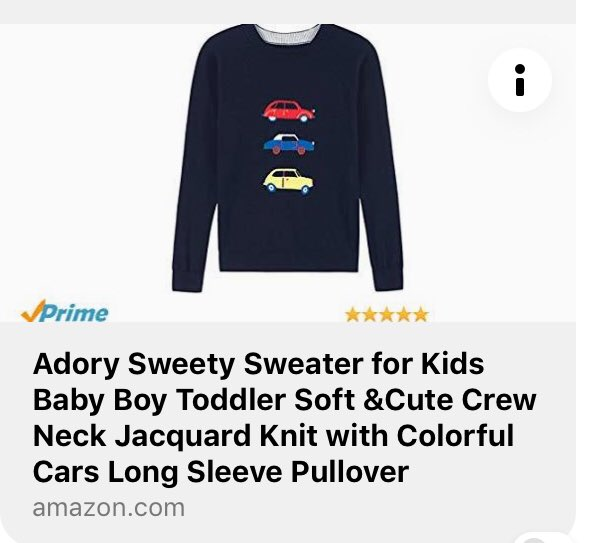 Adory Sweety Sweater for Kids Baby Boy Toddler Soft /&Cute Crew Neck Jacquard Knit with Colorful Cars Long Sleeve Pullover