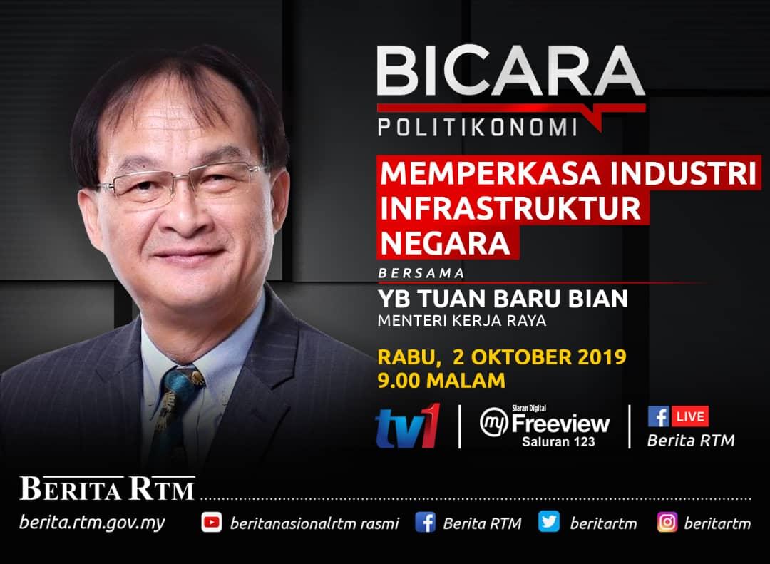 Jkr Hilir Perak على تويتر Hebahan Bicara Politikonomi Bersama Yb Baru Bian Menteri Kerja Raya Pada 2 Oktober 2019 Jkrperak Jkr Hilirperak