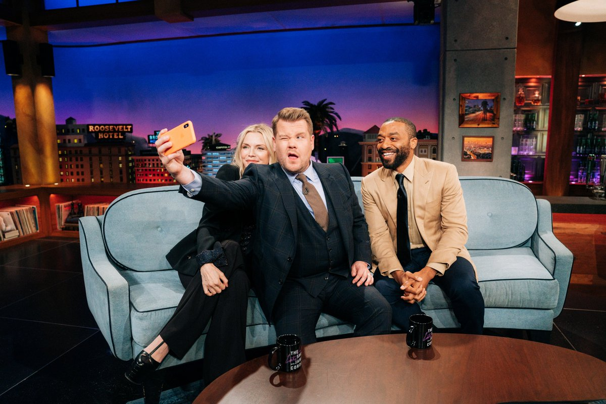 The #LateLateShow with our two new best friends Michelle Pfieffer and Chiwetel Ejiofor starts right now!