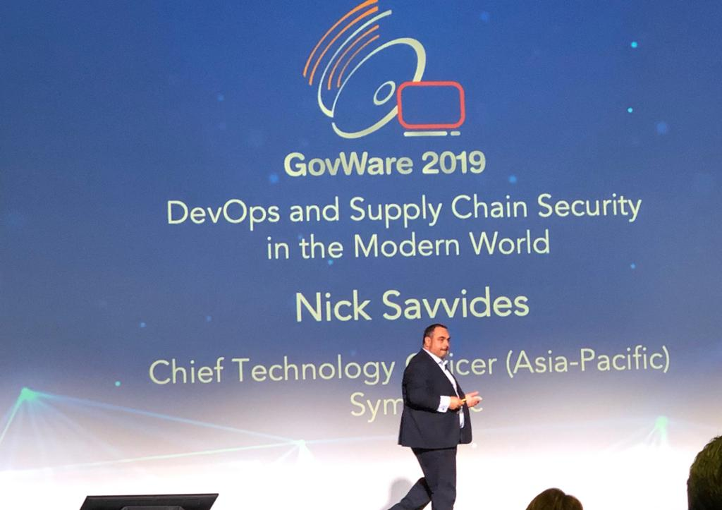Old traditional security does not work in the DevOps world... Our CTO APAC Nick Savvides shared more about on 'DevOps and Supply Chain Security in the Modern World' at #GovWare2019   #SymantecAtGovWare2019 https://t.co/OQngrRTH8U