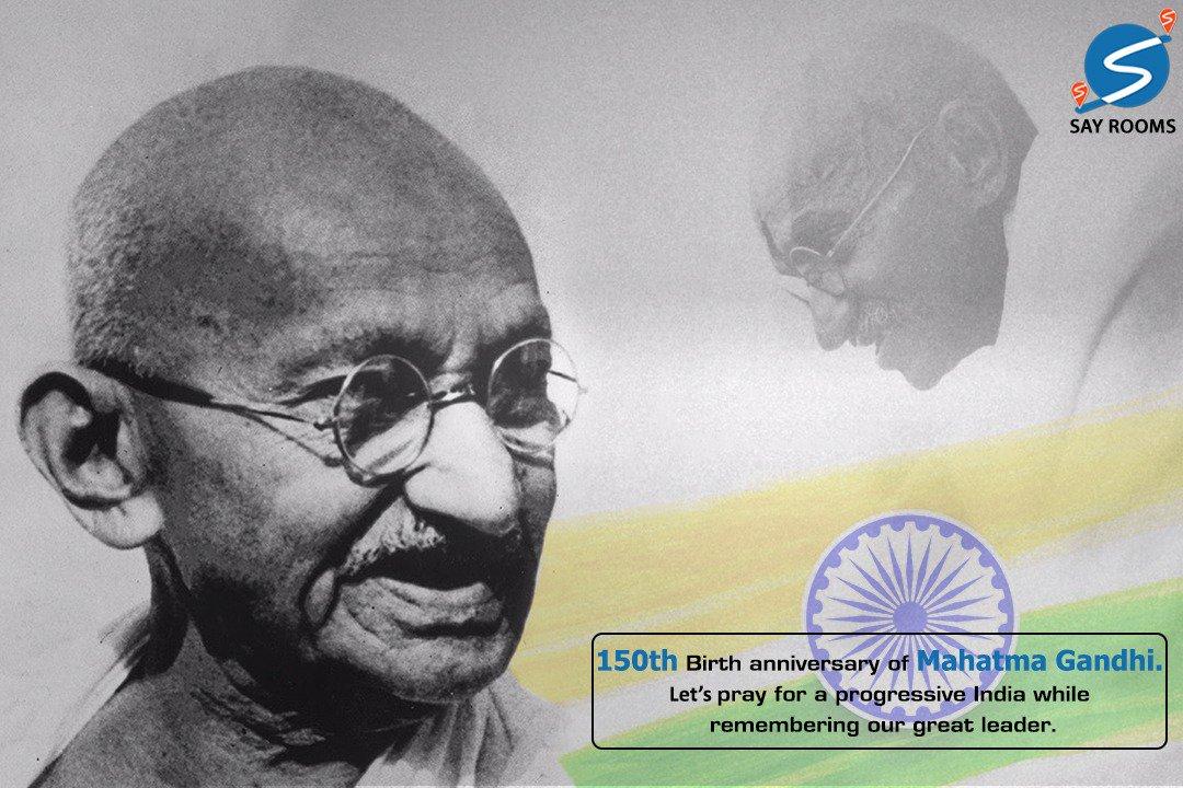 #Sayrooms wishes everybody a Happy Gandhi Jayanti!  #Justsayrooms #reliable #Gandhijayanti #150thyear #Fatherofthenationpic.twitter.com/PjKxTst4XF