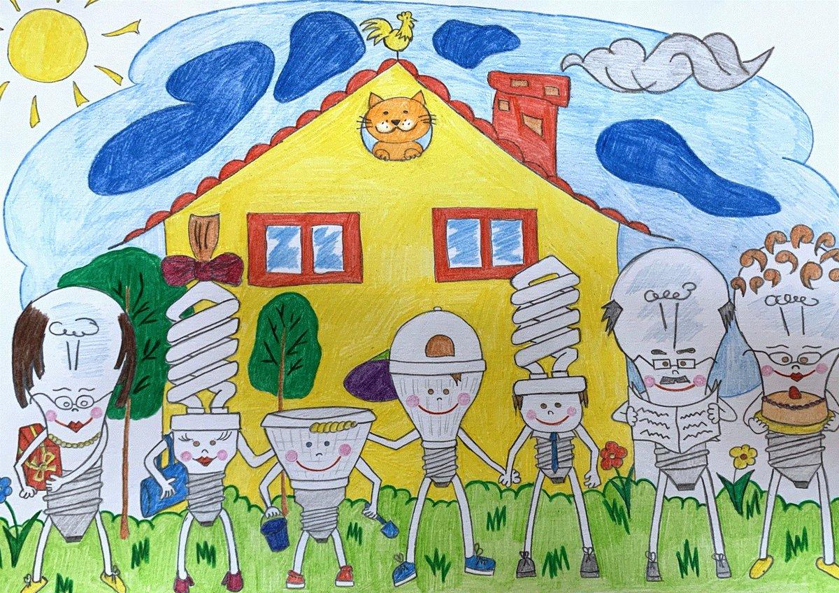 Рисунок энергетика глазами детей