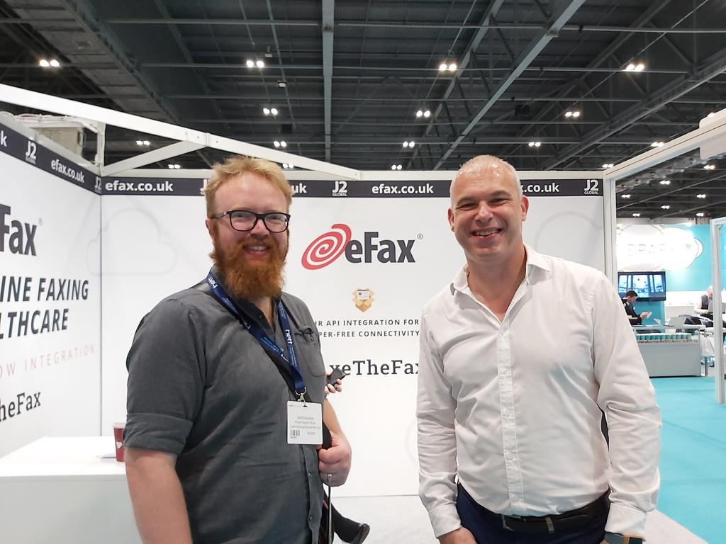 The #implementationTeam at the #Hett19 representing #AxetheFax. Met colleagues from our eFax suppliers J2. @DitLeeds @marespadasirles