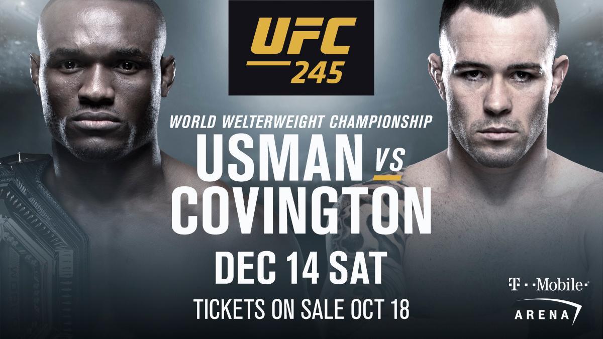 The score gets settled at #UFC245! 🇳🇬 @USMAN84kg vs @ColbyCovMMA 🇺🇸