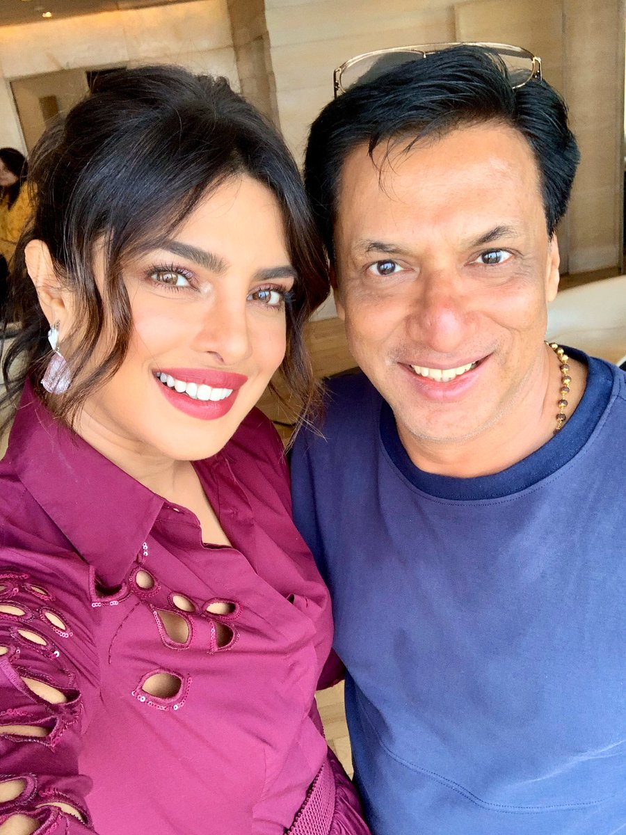 Bumped into the Ever Gracious @priyankachopra in New Delhi. My best wishes to her upcoming film #TheSkyIsPink